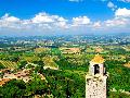 Overview of the Tuscan countryside of San Gimignano